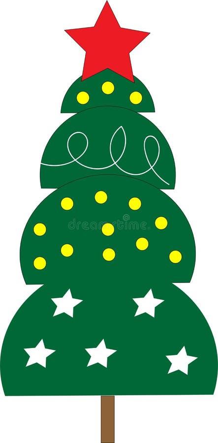 Karikatur-Weihnachtsbaum lizenzfreie abbildung