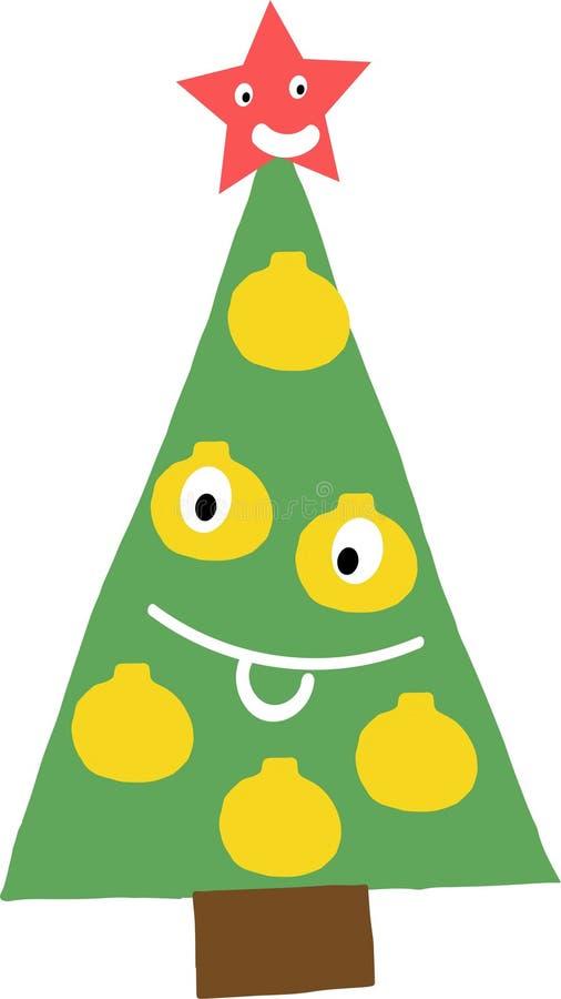 Karikatur-Weihnachtsbaum stock abbildung