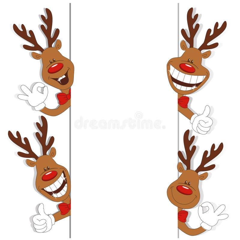 Karikatur-Weihnachtsrotwild stock abbildung