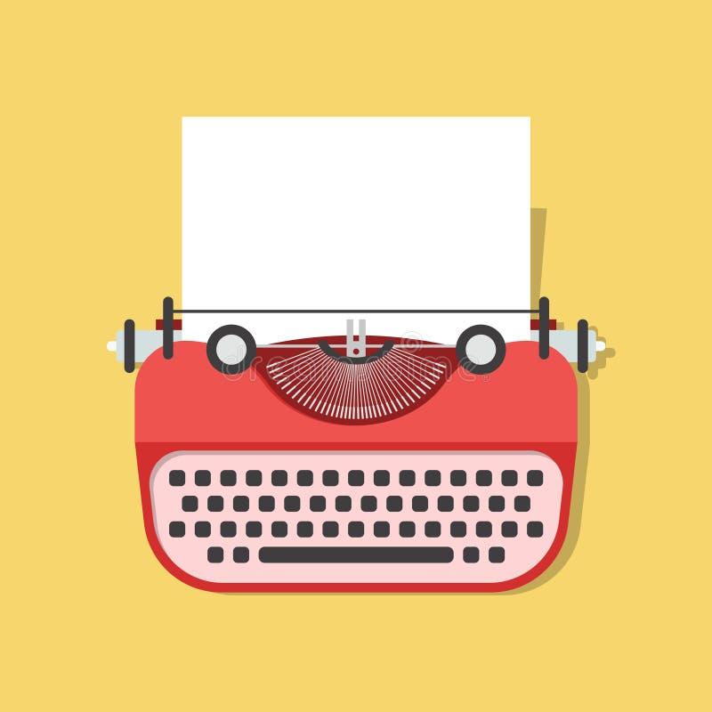 Karikatur-Weinlese-Schreibmaschine Vektor lizenzfreie abbildung
