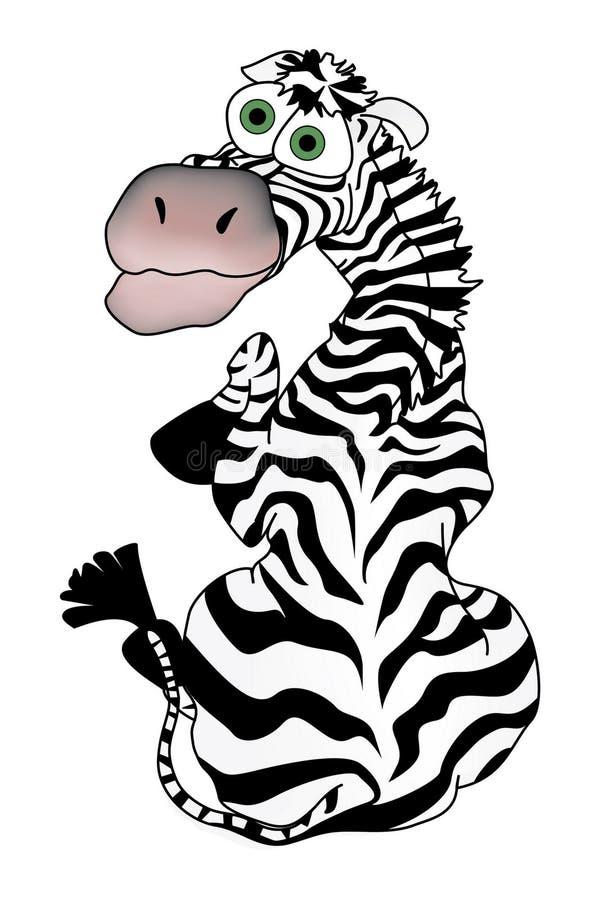 Karikatur Zebra stockfotos