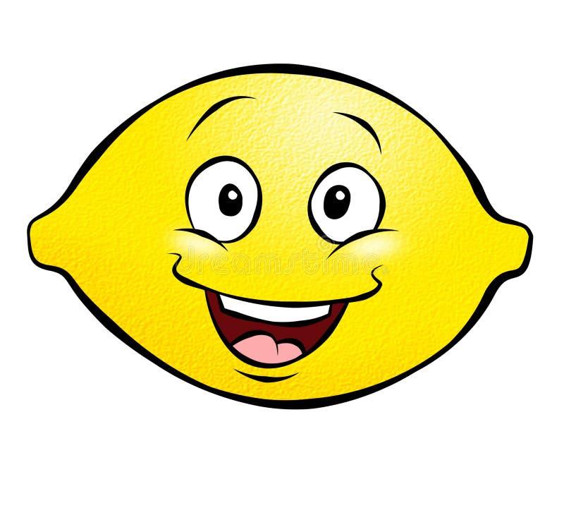 Karikatur-Zitrone stock abbildung