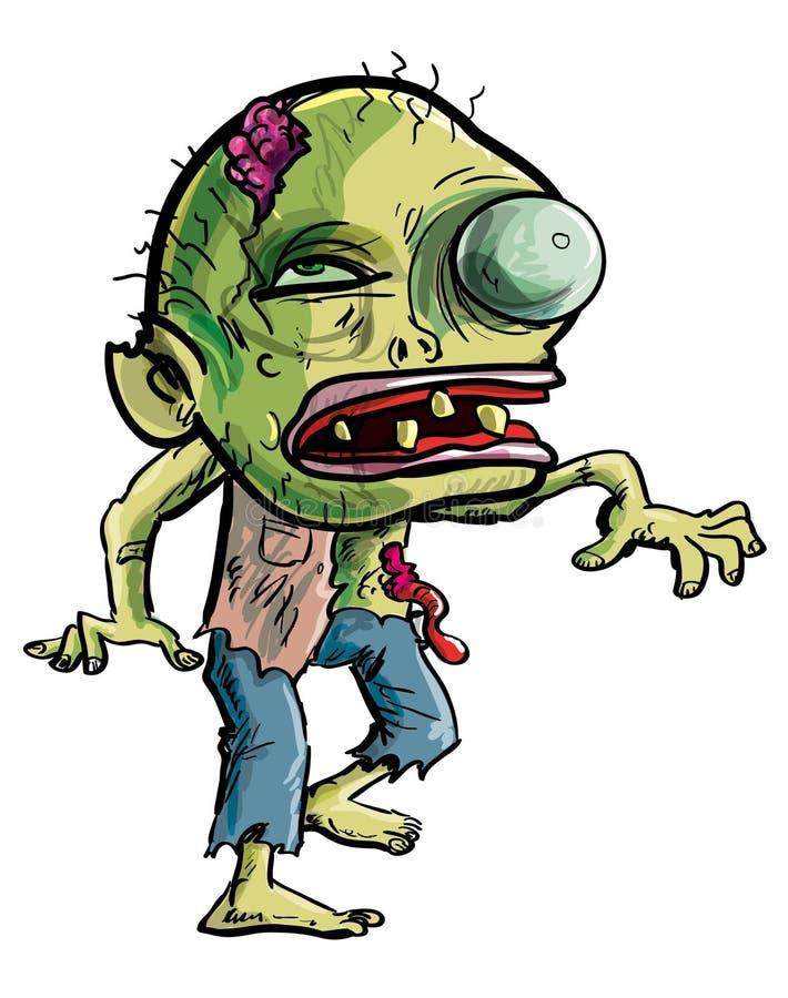 Karikatur-Zombie, der eine ergreifenbewegung macht