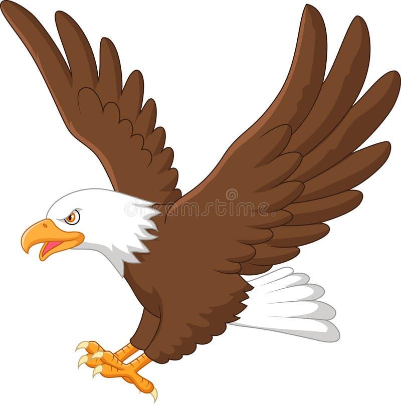 Karikaturadlerfliegen stock abbildung