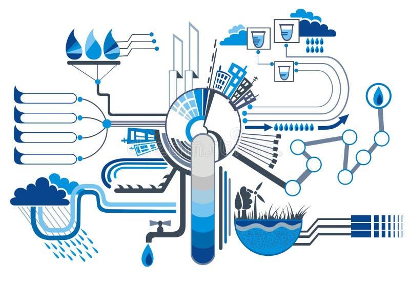Infographic Elemente des Wassers lizenzfreie abbildung