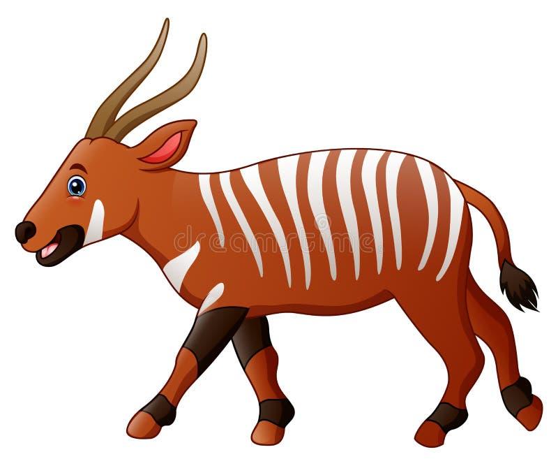 Karikaturbongoantilope stock abbildung