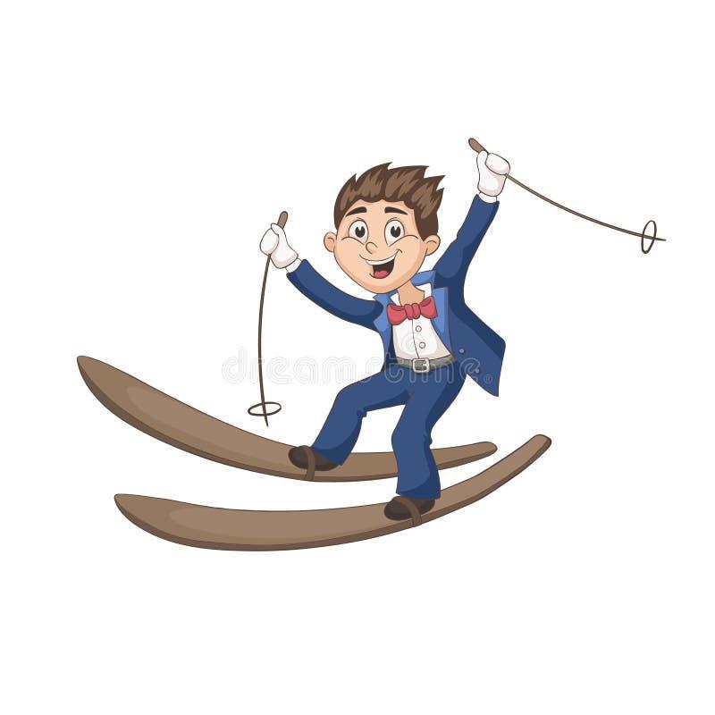 Karikaturbräutigam stock abbildung