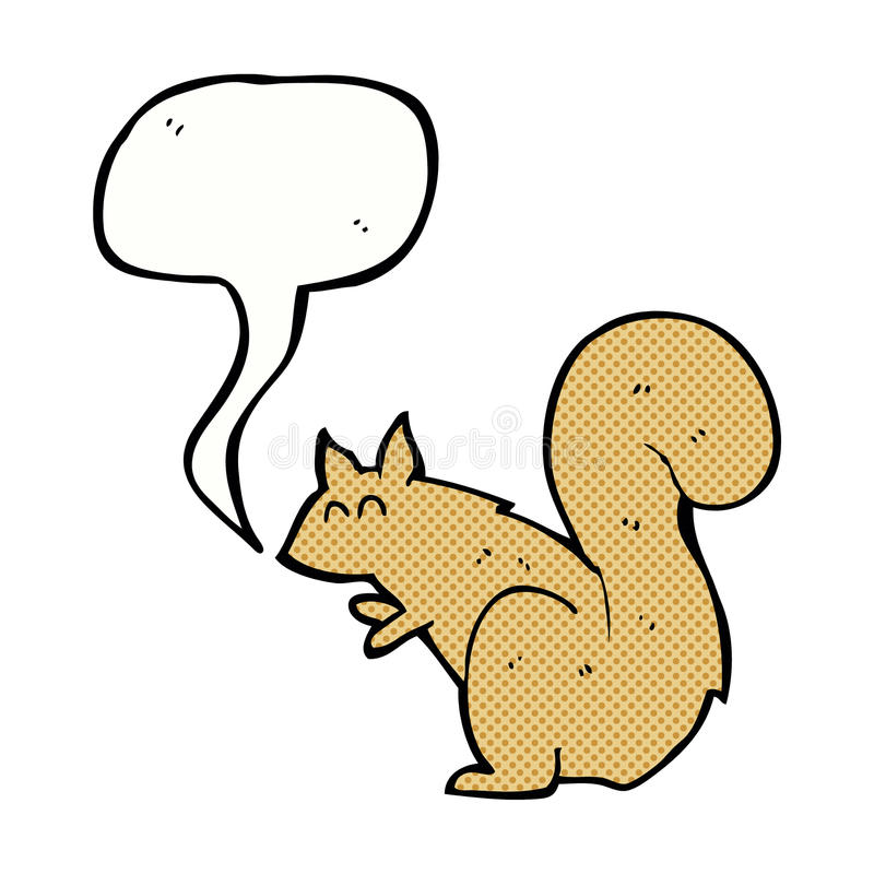 Karikatureichhörnchen mit Spracheblase vektor abbildung