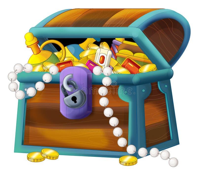 Treasure Toys Cartoon : Karikaturelement schatztruhe stock abbildung