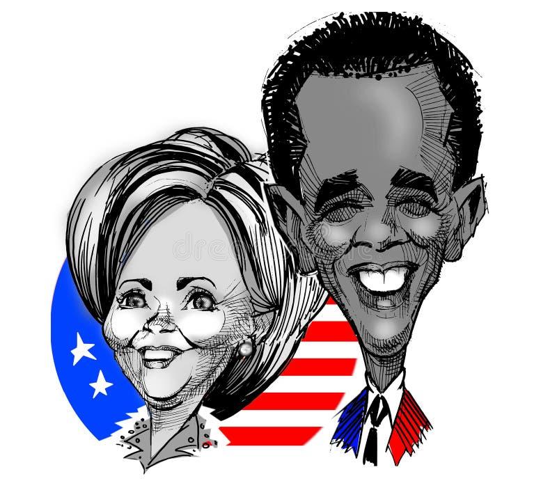 Karikaturen - Clinton/Obama