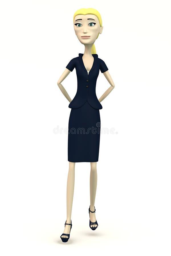 Karikaturgeschäftsfrau - bossy vektor abbildung