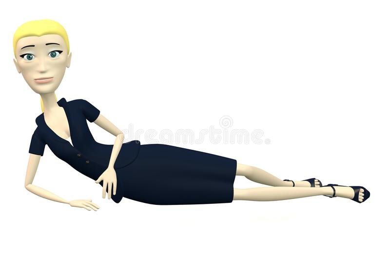 Karikaturgeschäftsfrau - stillstehend vektor abbildung