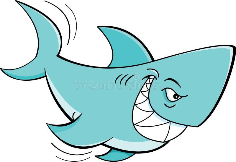 Karikaturhaifisch stock abbildung