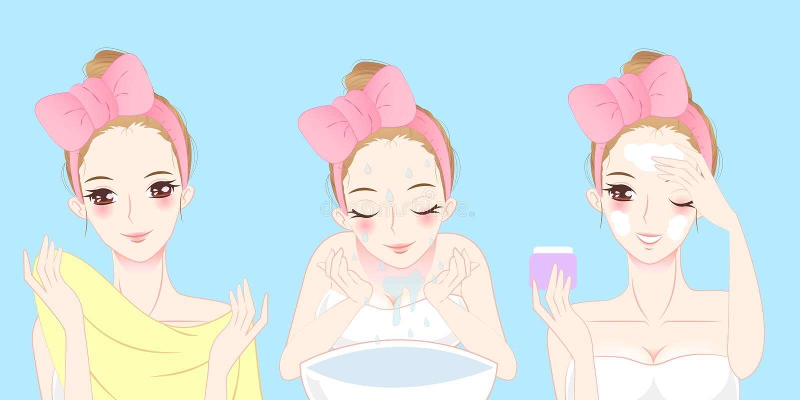 Karikaturhautpflegefrau lizenzfreie abbildung