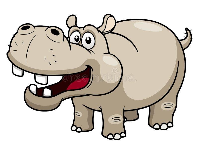 KarikaturHippopotamus stock abbildung