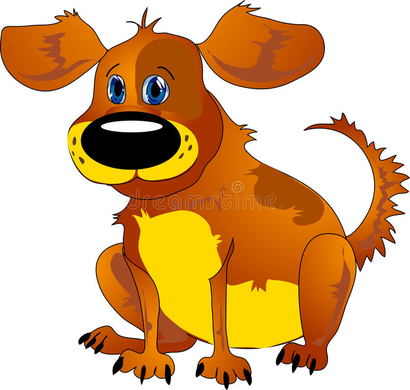 Karikaturhund vektor abbildung