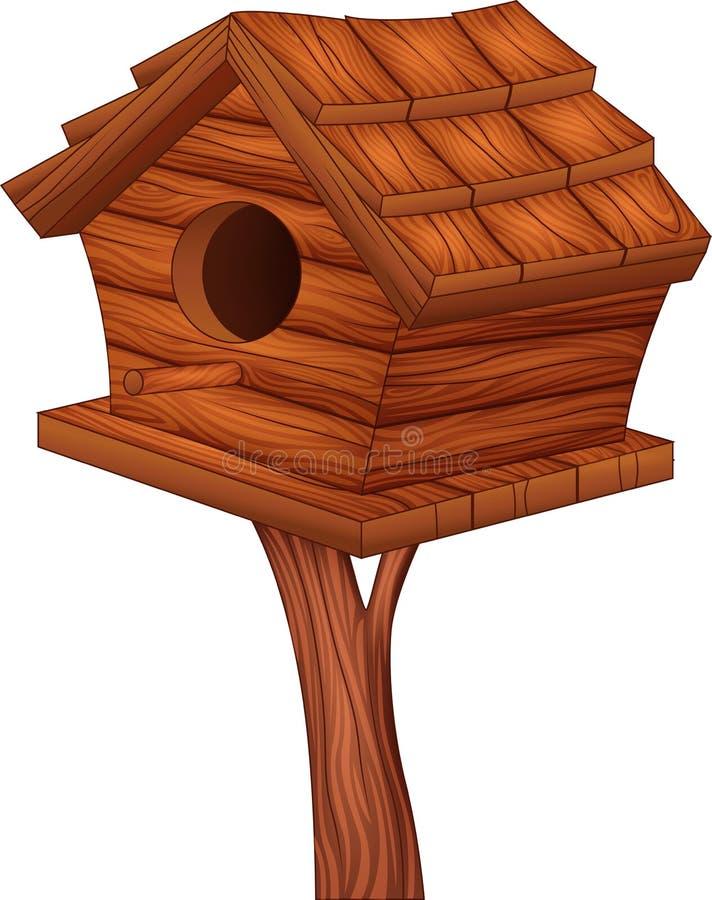 Karikaturillustration des Vogelhauses stock abbildung