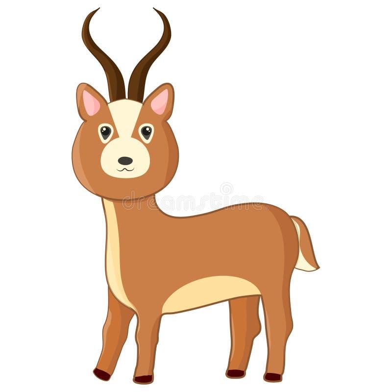 Karikaturimpala Netter Vektor Antilope vektor abbildung