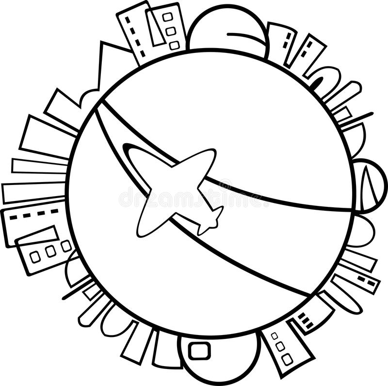 Karikaturjet-Flugzeug vektor abbildung
