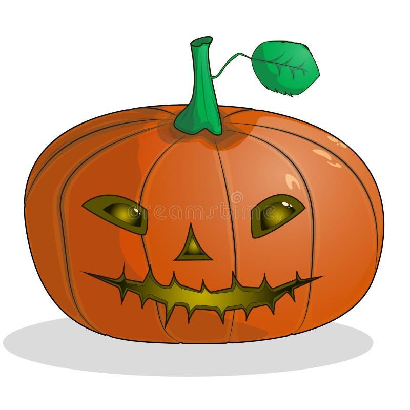 Karikaturkürbis mit einer Mündung für Halloween vektor abbildung