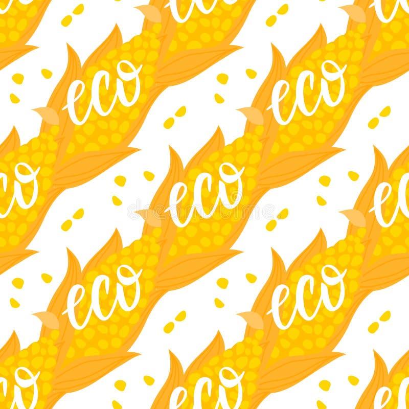 Karikaturkornähre nahtloses Muster Vektor ilustration lokalisiert auf weißem Hintergrund lizenzfreie abbildung