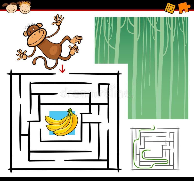 Karikaturlabyrinth oder Labyrinthspiel stock abbildung
