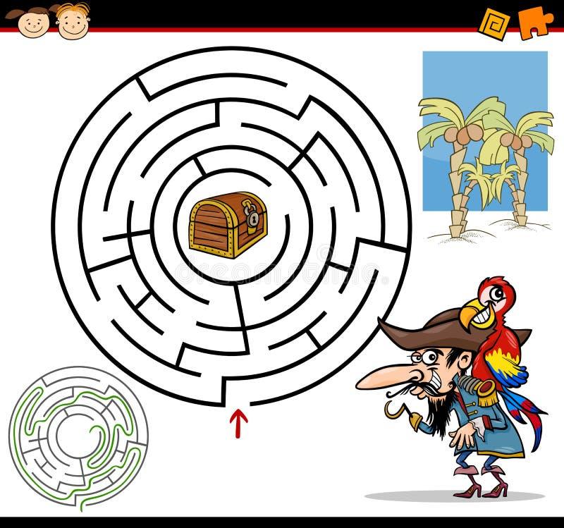 Karikaturlabyrinth oder Labyrinthspiel lizenzfreie abbildung