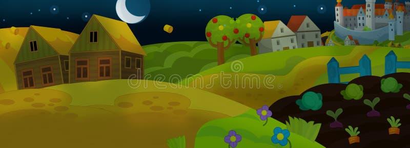 Karikaturmärchenszene für Animation oder andere lizenzfreie abbildung
