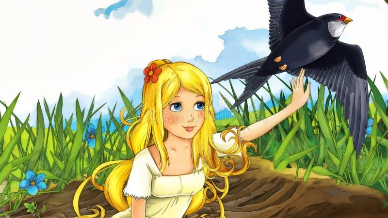 Karikaturmärchenszene - Illustration für die Kinder vektor abbildung