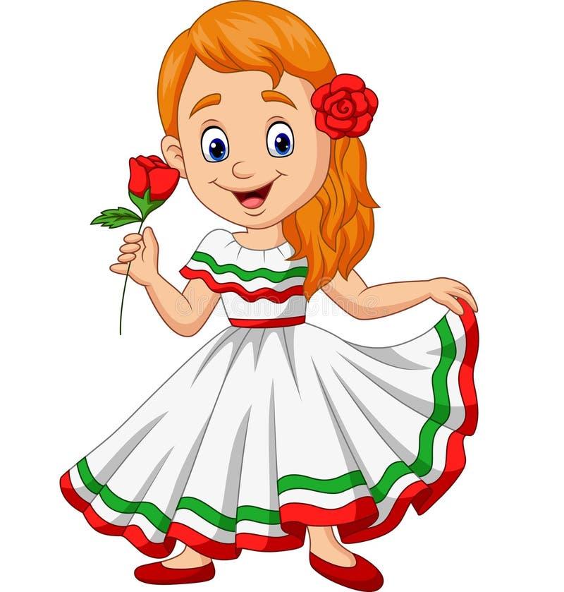 Karikaturm?dchentanzen, Feier Cinco Des Mayo vektor abbildung