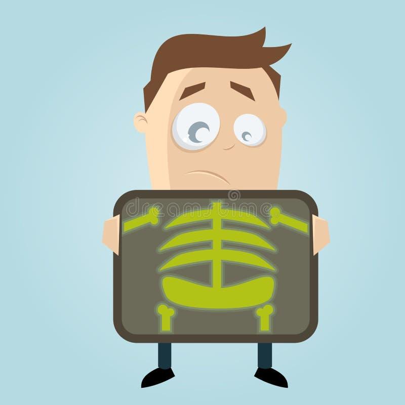 Karikaturmann erhält Röntgenprüfung lizenzfreie abbildung