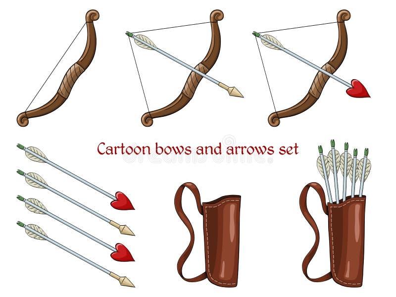 Karikaturpfeile und bogen vektor abbildung