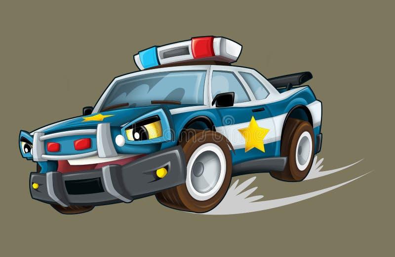 Karikaturpolizei stock abbildung