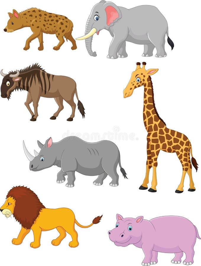Karikatursammlungstier Afrika stock abbildung