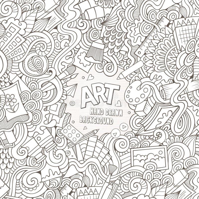 Karikaturvektor kritzelt Hand gezeichnete Kunst und Handwerk lizenzfreie abbildung