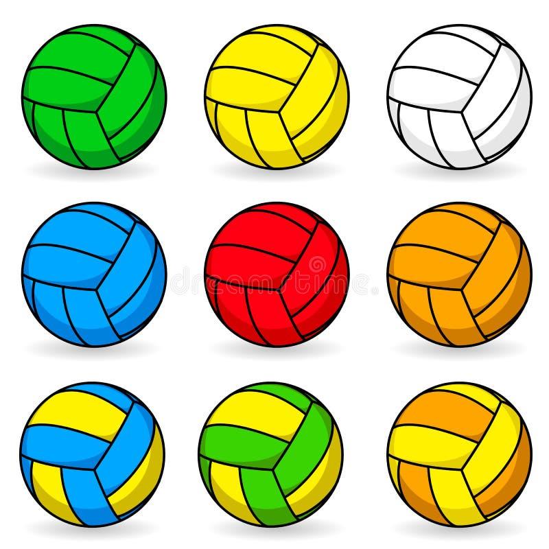 Karikaturvolleyball stock abbildung