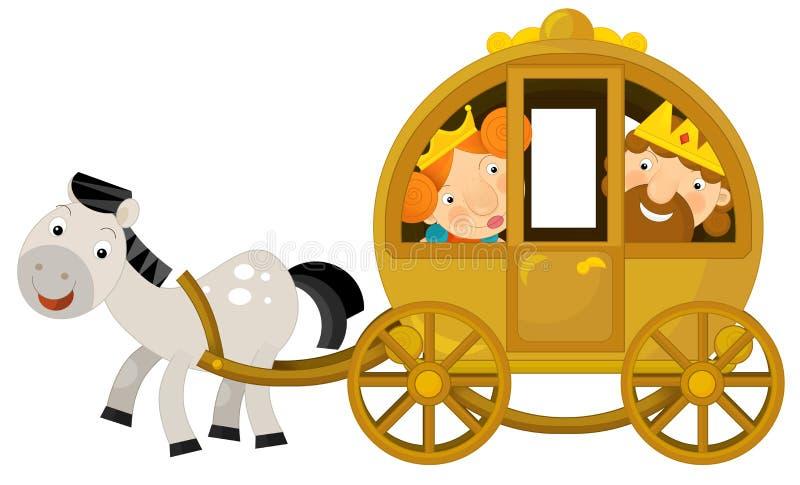Karikaturwagen für Märchen stock abbildung