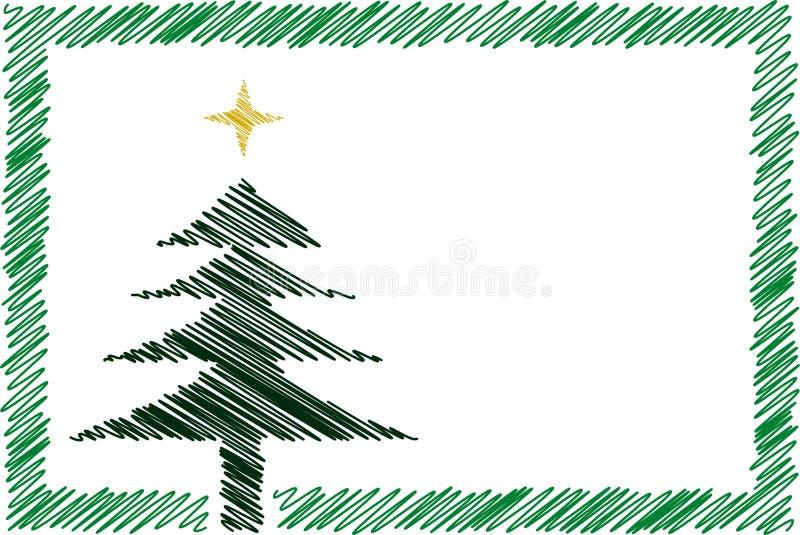 Karikaturweihnachtskarte lizenzfreie abbildung