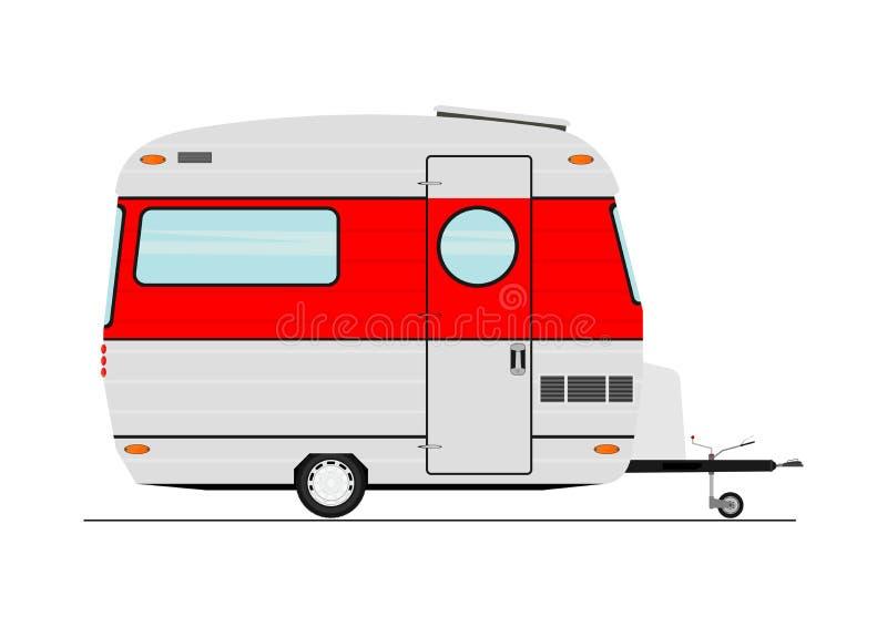 Karikaturwohnwagen stock abbildung