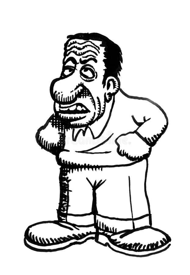 Karikaturzeichnungszeichen lizenzfreie abbildung