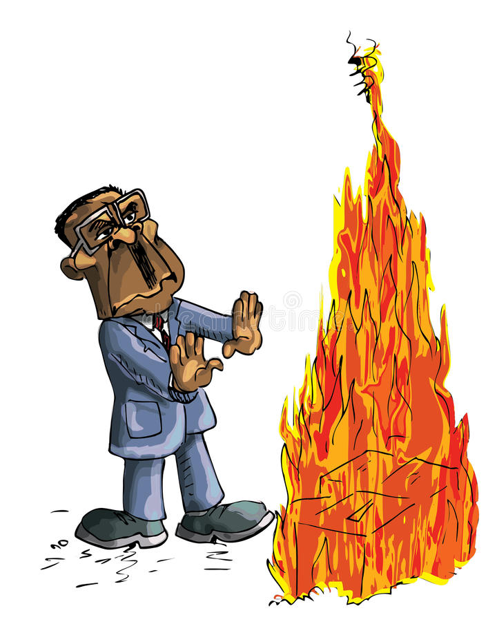 Karikatuur van Robert Mugabe royalty-vrije illustratie