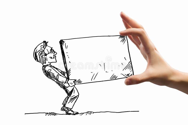 Karikatyr av affärsmannen royaltyfria foton