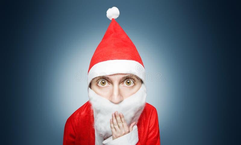 Karikatyr av förvånade Santa Claus royaltyfri bild