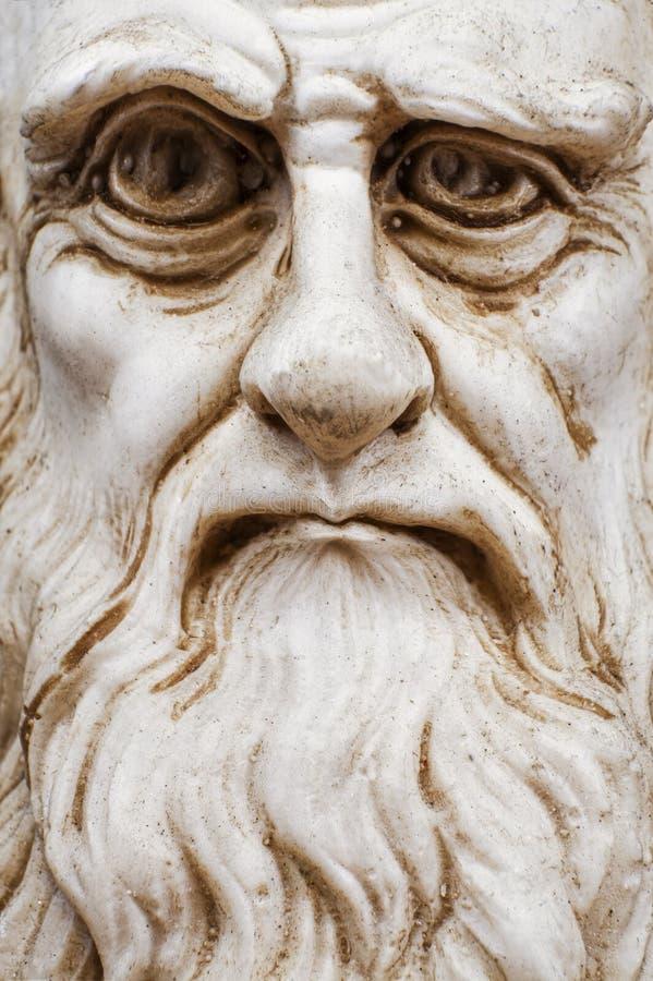 Karikatyr av Leonardo Da Vinci vänder mot arkivfoto