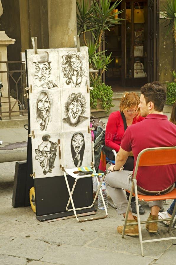 Karikatyr i Siena royaltyfri bild