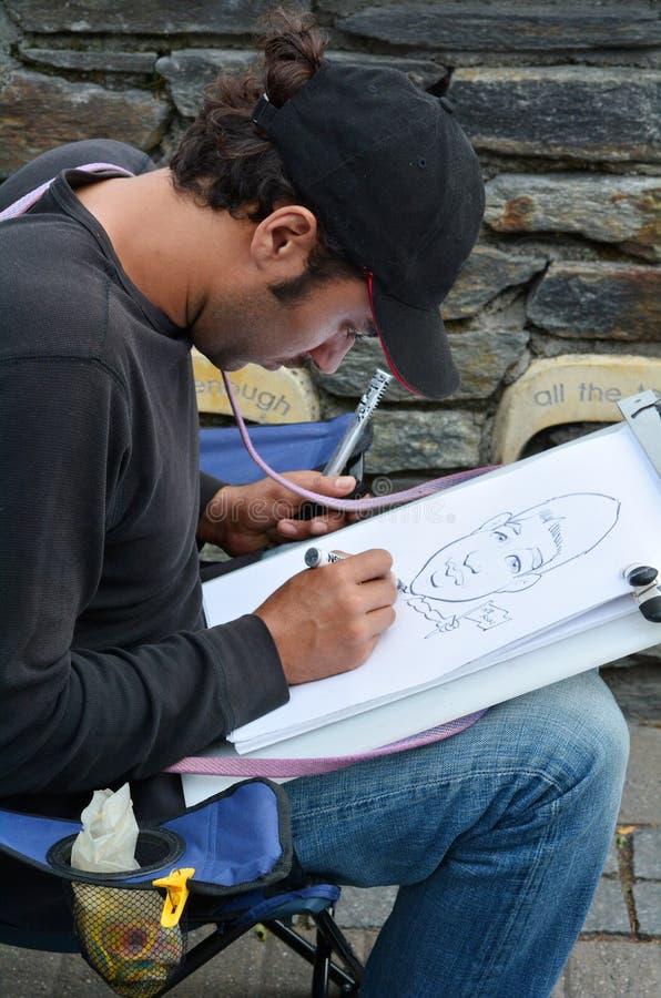 Karikatyrkonst - Gata-stil karikatyr fotografering för bildbyråer