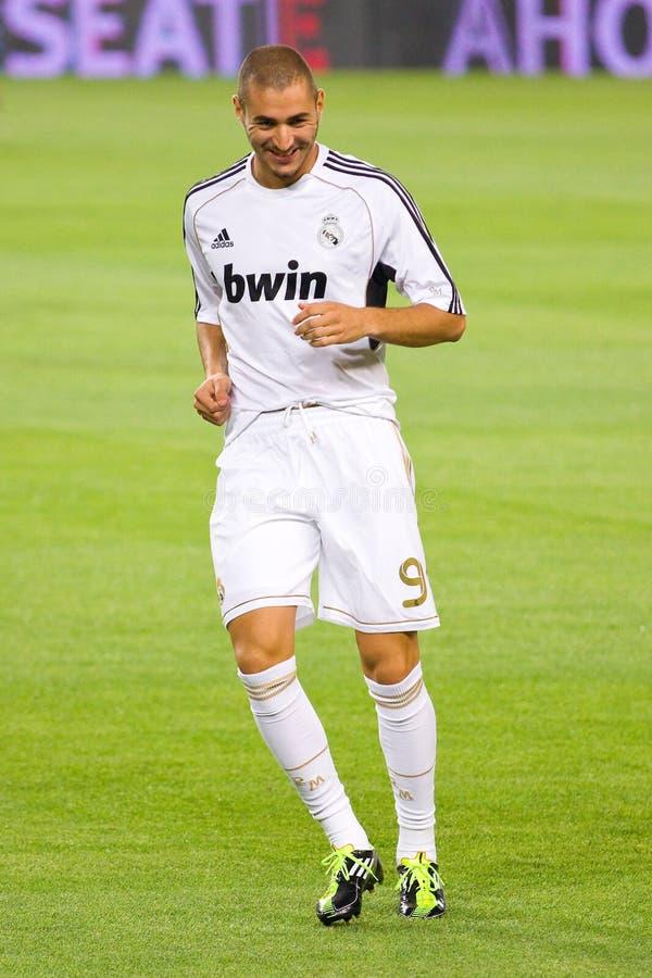 Karim Benzema von Real Madrid stockfotografie