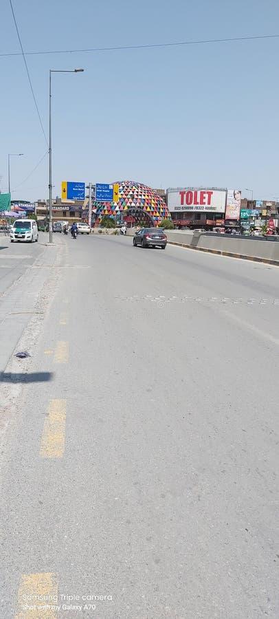 Karim block market Chowk allama iqbal town Lahore Pakistan stock images