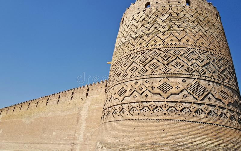 The Karim Khan Castle, Iran. The Karim Khan Castle Arg-e Karim Khan is a citadel located in the downtown Shiraz, southern Iran. It was built as part of a stock photography