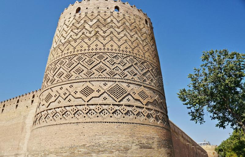 The Karim Khan Castle, Iran. The Karim Khan Castle Arg-e Karim Khan is a citadel located in the downtown Shiraz, southern Iran. It was built as part of a royalty free stock photos